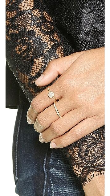 blanca monros gomez Flat Seed Pave Diamond Ring