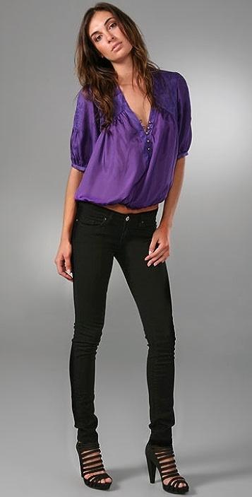Blank Denim Studded Skinny Jeans