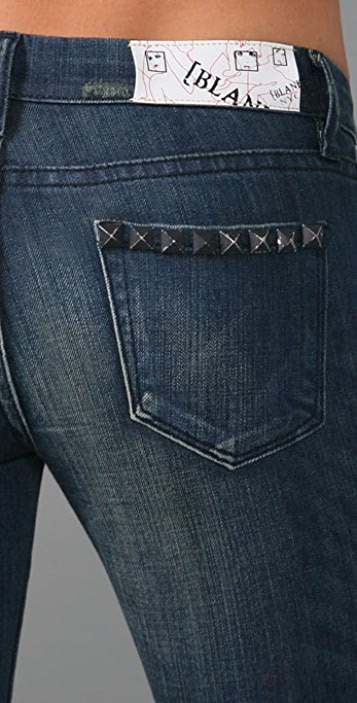 Blank Denim Skinny Jeans with Original Studded Pocket