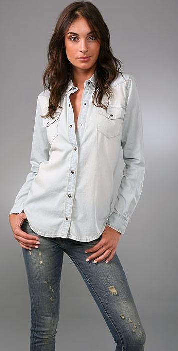 Blank Denim Denim Boyfriend Shirt