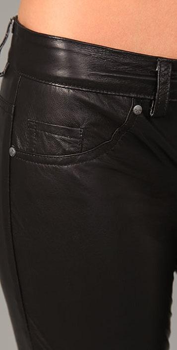 Blank Denim Leather Skinny Pants