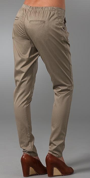 Blank Denim Drawstring Pants