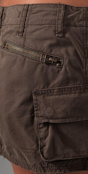 Blank Denim Cargo Skirt