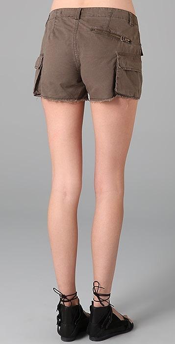 Blank Denim Khaki Twill Cargo Shorts