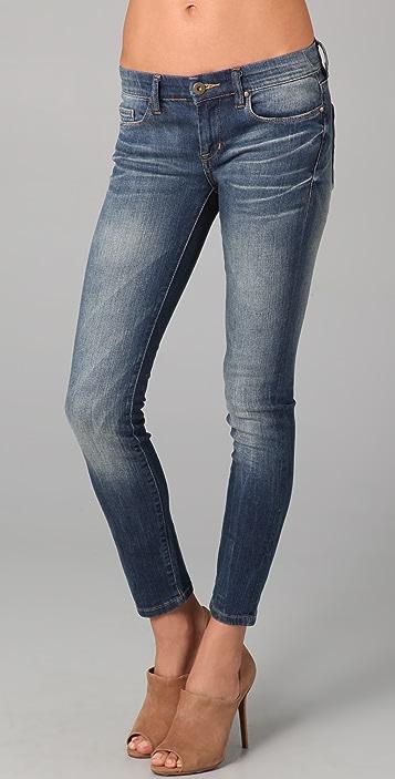 Blank Denim Vintage Soft Wash Ankle Skinny Jeans