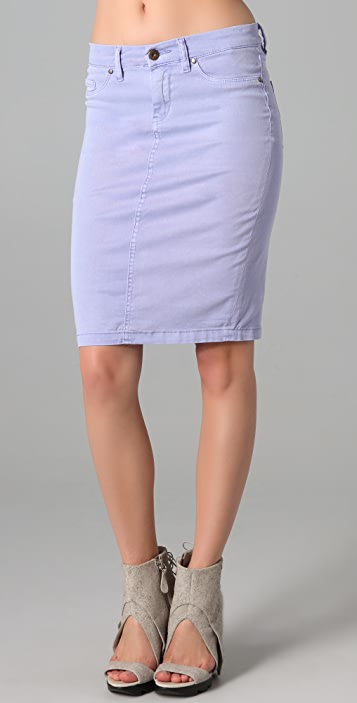 Blank Denim Pencil Skirt