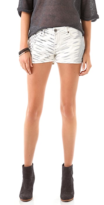 Blank Denim Animal Print Shorts