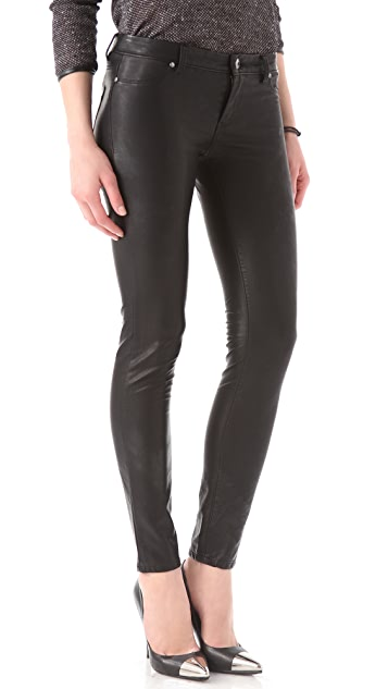 Blank Denim Vegan Leather Moto Skinny Pants