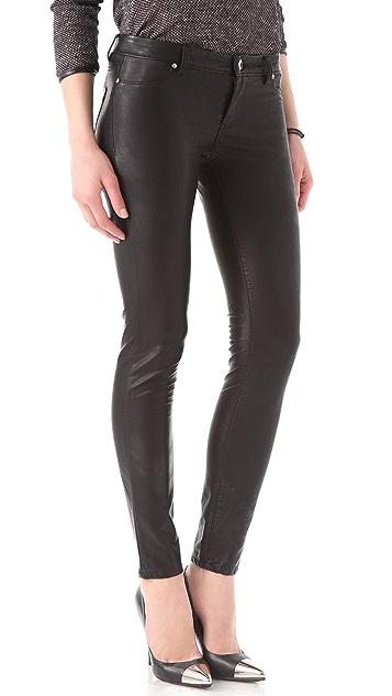 Blank Denim Vegan Leather Moto Skinny Pants
