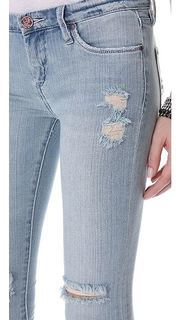 Blank Denim Состаренные джинсы скинии