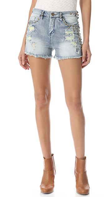 Blank Denim High Rise Cutoff Shorts