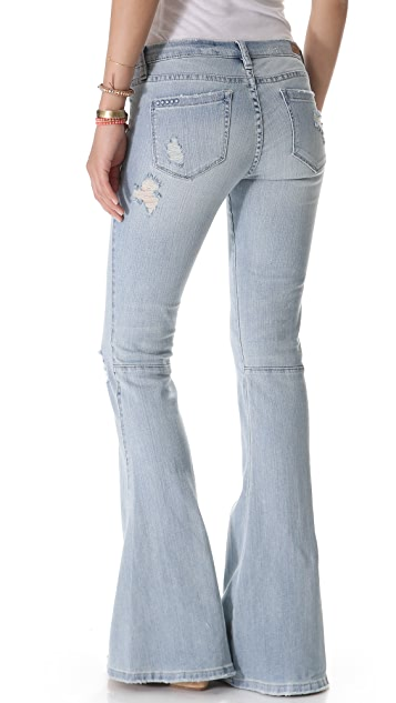 Blank Denim Distressed Bell Bottom Jeans
