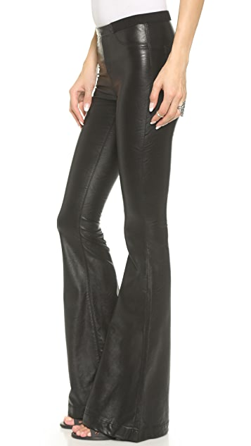 Blank Denim Faux Leather Flare Pants