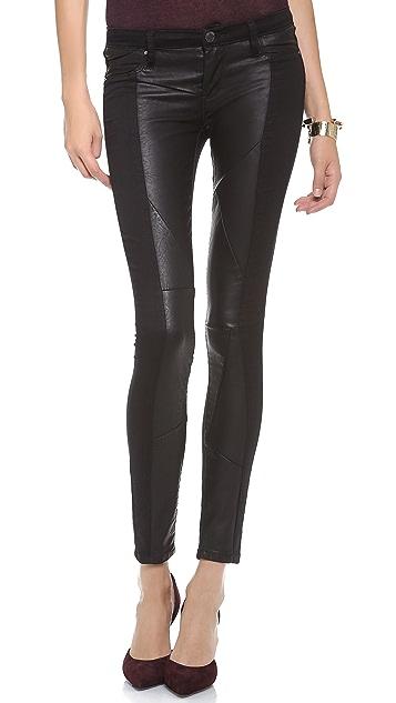 Blank Denim Paneled Skinny Jeans
