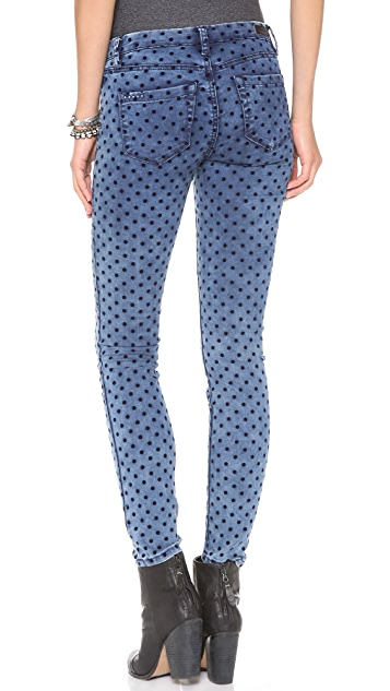Blank Denim Dotted Skinny Jeans