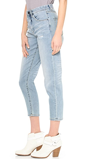 Blank Denim Rolled Boyfriend Jeans