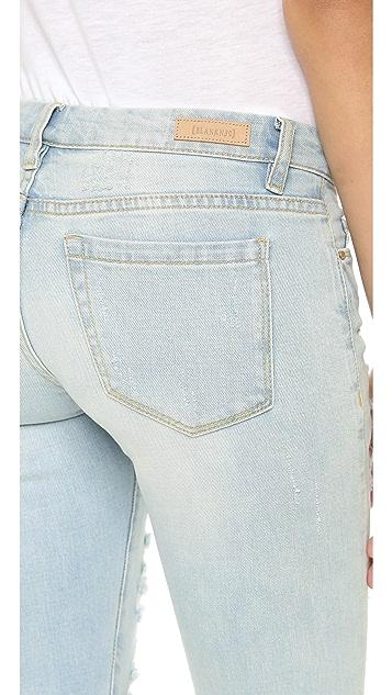 Blank Denim Distressed Skinny Jeans