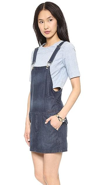Blank Denim Overall Dress