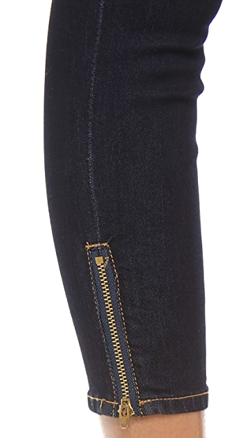 Blank Denim Capris with Zips