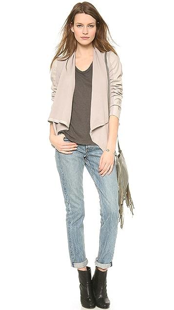 Blank Denim Cowl Neck Jacket
