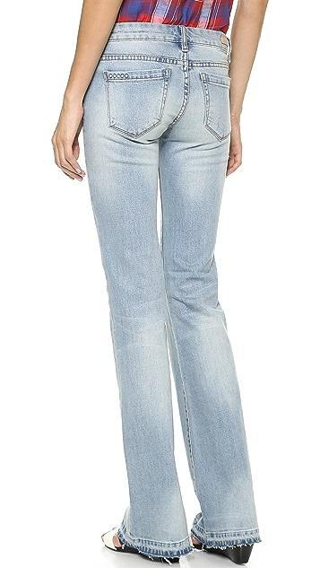Blank Denim Raw Hem Flare Jeans