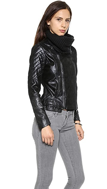 Blank Denim Vegan Leather Jacket
