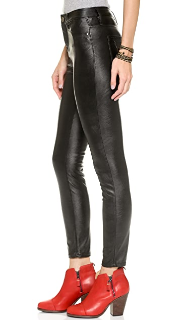Blank Denim High Rise Vegan Leather Skinny Pants