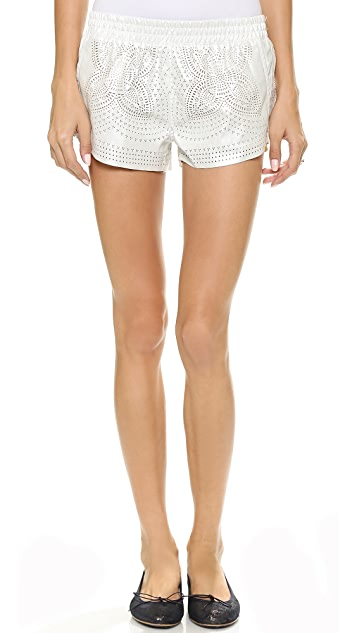 Blank Denim Laser Cut Vegan Shorts