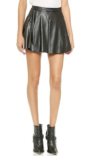 Blank Denim Pleated Skirt