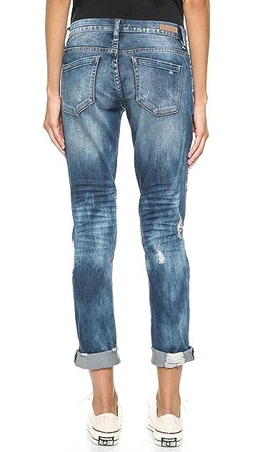 Blank Denim Distressed Cuffed Boyfriend Jeans