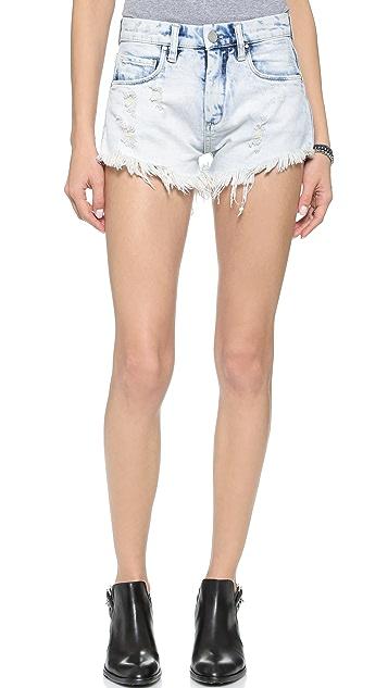 Blank Denim Cutoff Shorts
