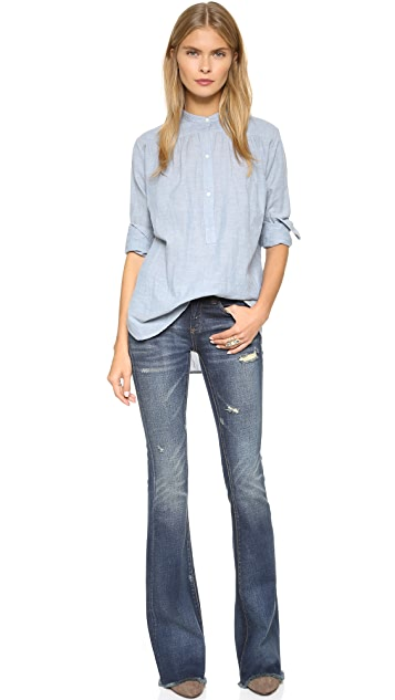 Blank Denim Distressed Flare Jeans