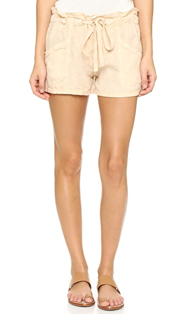 Blank Denim Linen Shorts