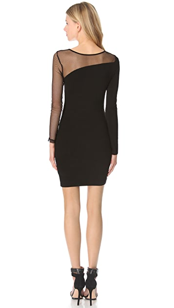 Blaque Label Fishnet Sleeve Dress