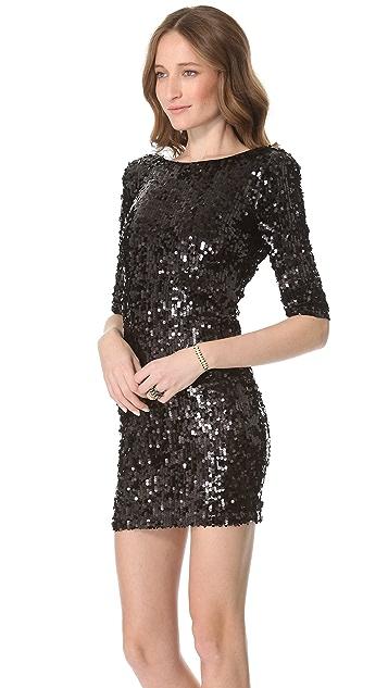 Blaque Label Scoop Back Sequin Dress