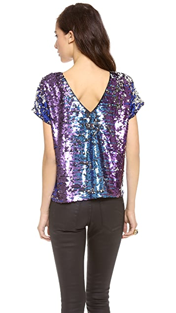 Blaque Label Short Sleeve Sequin Top