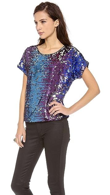 Blaque Label Short Sleeve Sequin Top