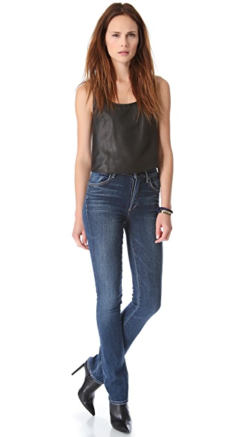 Blaque Label Boxy Leather Cropped Top