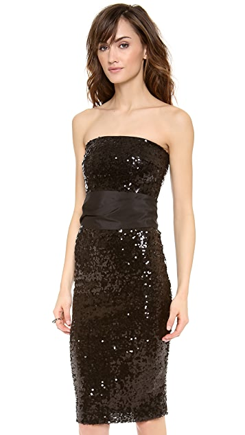 Blaque Label Strapless Sequin Dress