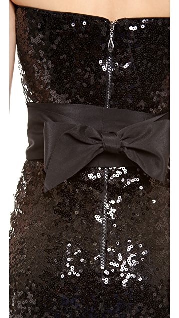 Blaque Label Strapless Sequin Dress