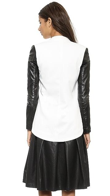 Blaque Label Leather Sleeve Jacket