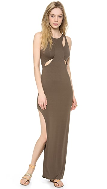 Bless'ed are the Meek Holey Smoke Maxi Dress
