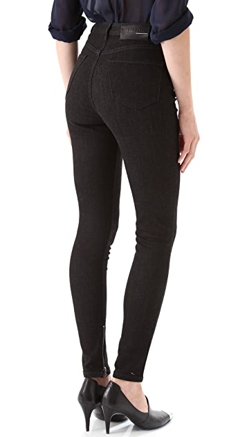 BLK DNM High Waisted Legging Jeans with Ankle Zip 8