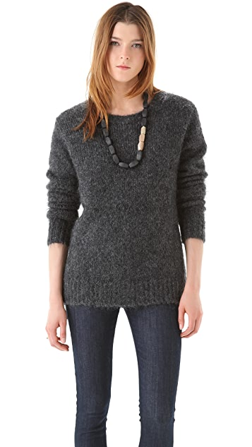 BLK DNM Crew Neck Mohair Sweater