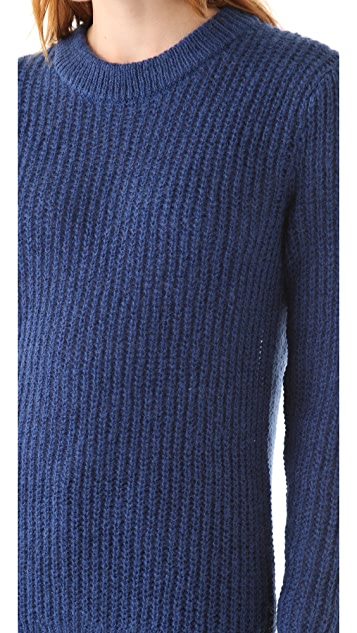 BLK DNM Crew Neck Mohair Sweater