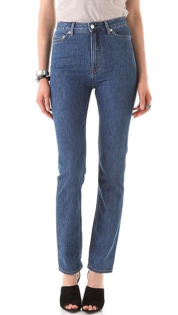 BLK DNM High Waisted Straight Leg Jeans