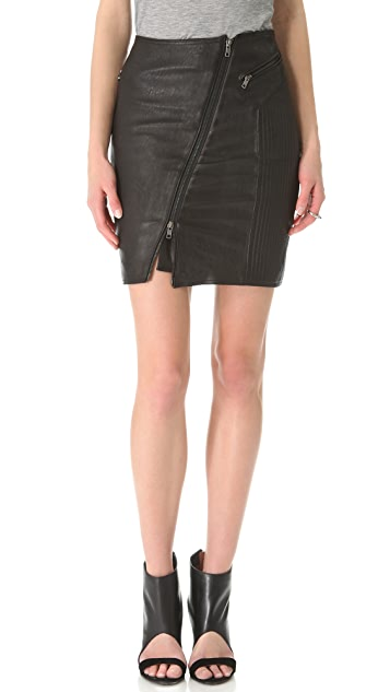 BLK DNM Leather Biker Skirt