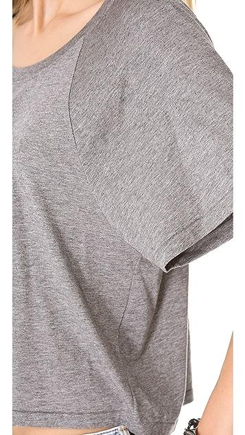 BLK DNM Cropped Raglan T-Shirt