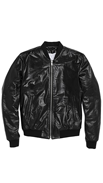 BLK DNM Leather Bomber Jacket 81