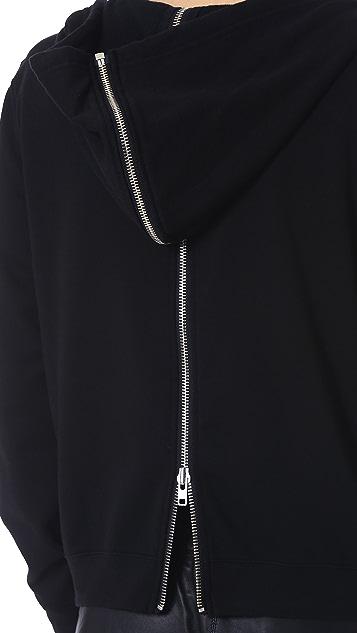 BLK DNM Hooded Sweatshirt 16 with Full Zip Detail